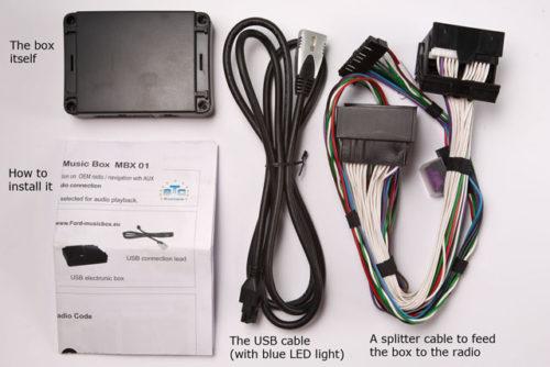 Адаптер Yatour YT-M06 для подключения внешних устройст к штатной магнитоле 6000CD в автомобиле Форд Фокус 2