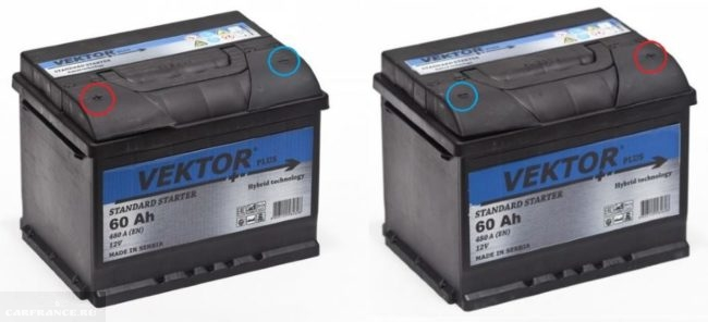 Аккумуляторная батарея VEKTOR PLUS 6CT-60R прямой полярности для ВАЗ-2110 и аккумулятор обратной полярности