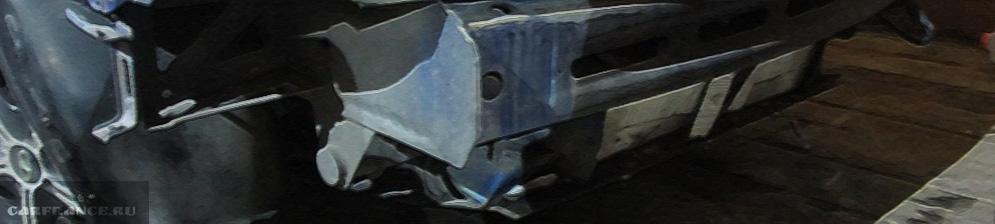 ВАЗ-2110 без переднего бампера и лонжероны