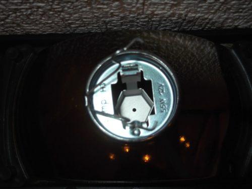 Цоколь противотуманной фары для ВАЗ-2110, крепление лампы и отражающий экран