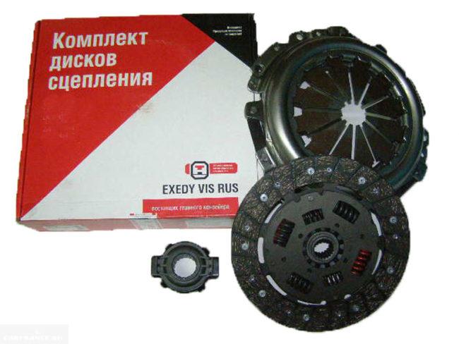 Упаковочная коробка, выжимной подшипник, ведомый диск и корзина сцепления для автомобиля ВАЗ-2110