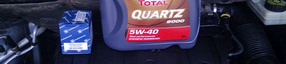 Масло и масляный фильтр рекомендованные заводом Total на двигателе Пежо 307