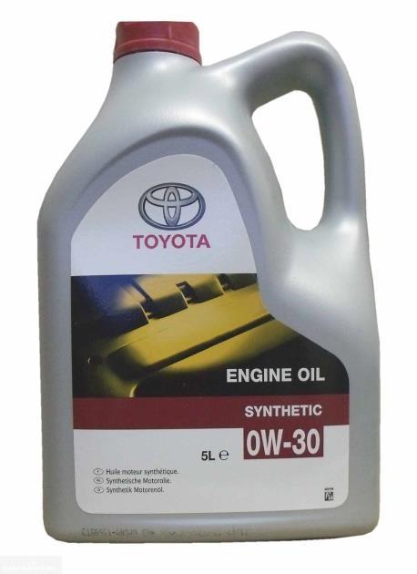 Синтетическое моторное масло Toyota SAE 0W-30 в пятилитровой канистре для Пежо 307