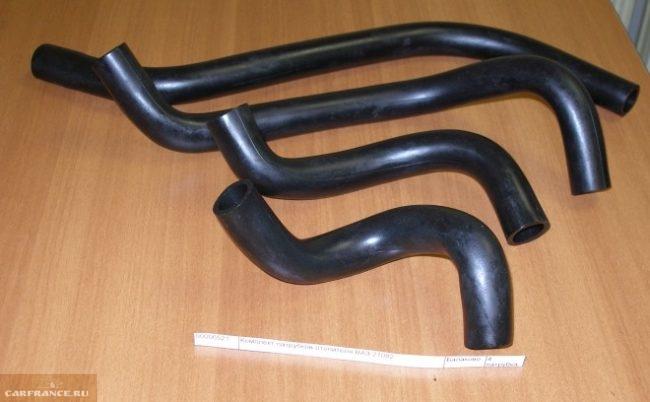 Комплект резиновых патрубков для системы отопления автомобиля ВАЗ-2110