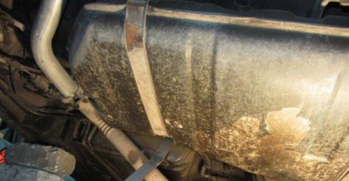 Планки крепления бензобака к днищу автомобиля ВАЗ-2110
