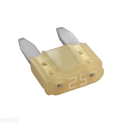 Предохранитель флажковый на 25 Ампер для цепи отопителя салона в автомобиле ВАЗ-2110