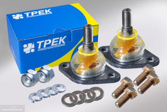 Опоры шаровые в комплекте с гайками, шайбами и болтами для автомобиля ВАЗ-2110
