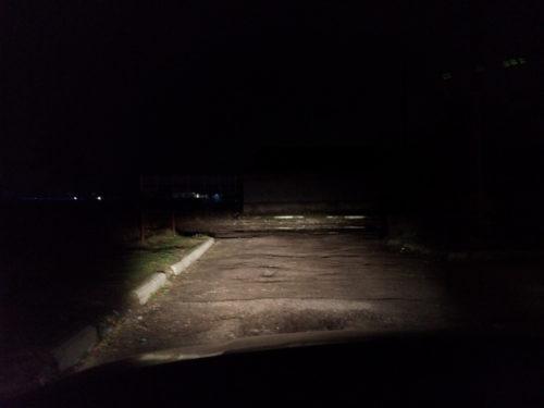 Зона освещения фарами ближнего света автомобиля ВАЗ-2110