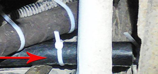 Защита троса сцепления от перетирания на ВАЗ-2110 тормозными шлангами