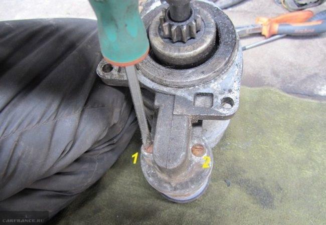 Разборка стартера ВАЗ-2110 снятие корпуса