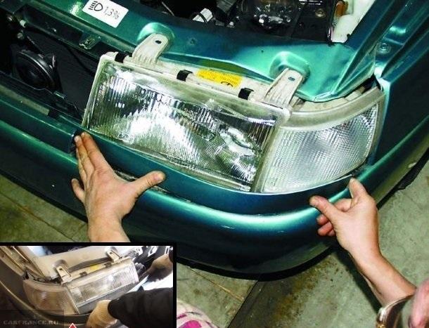Снятие реснички с фары ВАЗ-2110
