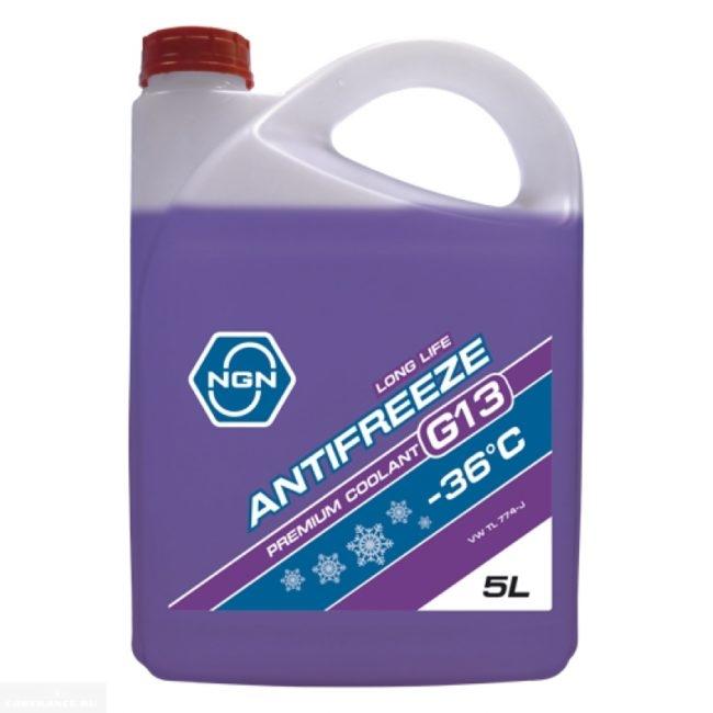 Антифриз G13 фиолетового цвета в канистре