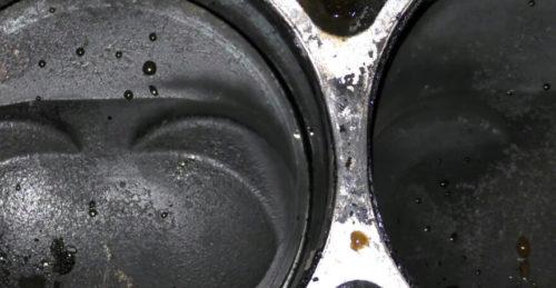 Места прогара прокладки на блоке цилиндров в ВАЗ-2110