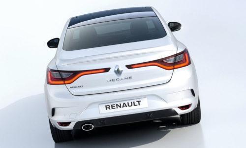 Внешний вид задней части автомобиля Рено Меган 2018 года