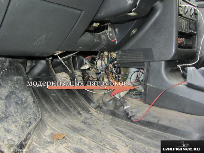 Модернизация отопления печки на ВАЗ-2110 в ноги