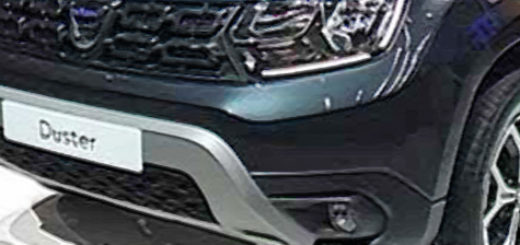 Новый Рено Дастер 2018 модельного года в тёмном сцвете на автосалоне
