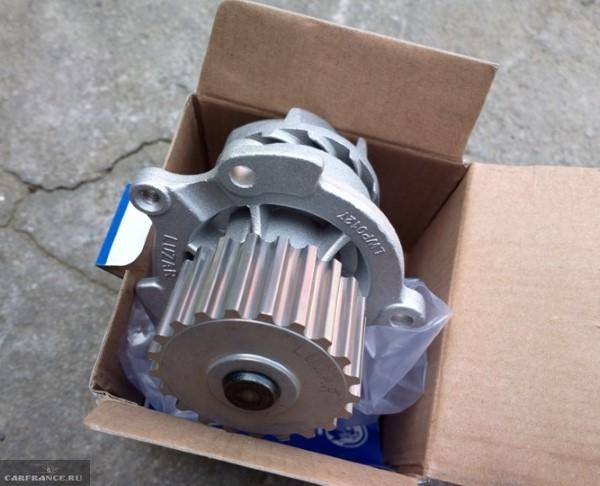 Насос водяной производства Luzar для 8-клапанного двигателя ВАЗ-2110