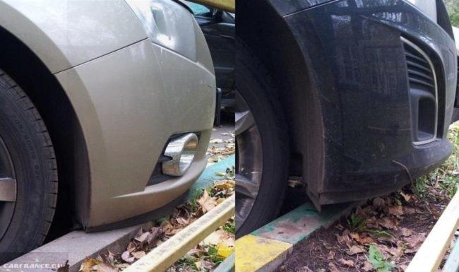 Расстояние между бампером и бордюрой на парковке