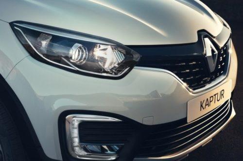 Фара головного света и противотуманные огни автомобиля Рено Каптур 2018 года
