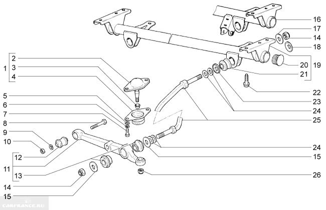 Схема подвески ВАЗ-2110 и её элементов