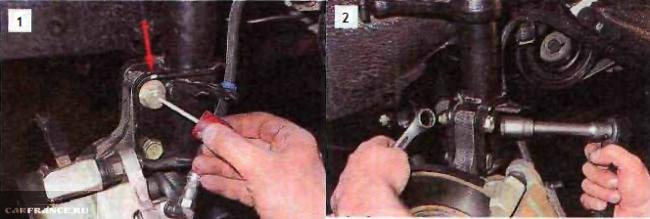 Регулировка развала ВАЗ-2110 на рулевой тяге