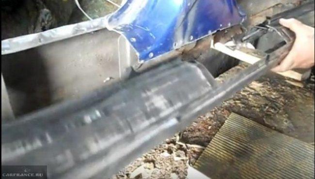 Подгонка наружной панели порогов ВАЗ-2110