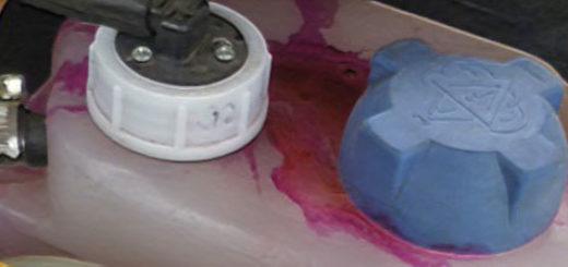 Закипел антифриз в бачке ВАЗ-2110 красный цвет