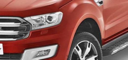 Форд Эверест 2018 модельного года вид спереди в оранжевом цвете