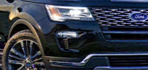 Форд Эксплорер 2018 модельного года в тёмном цвете