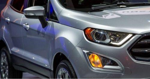 Передние фары и ходовые огни обновленного кроссовера Форд Экоспорт 2018 года