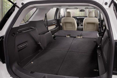 Багажник внедорожника Форд Эксплорер 2018 года при сложенных сиденьях