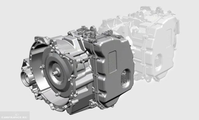 3D-изображение автоматической коробки передач, устанавливаемой в Форд Куга 2018 года