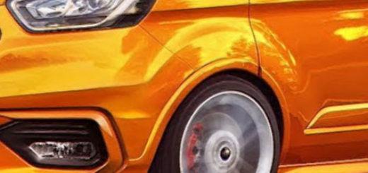 Форд Торнео Кастом 2018 модельного года в оранжевом цвете комплектация ST