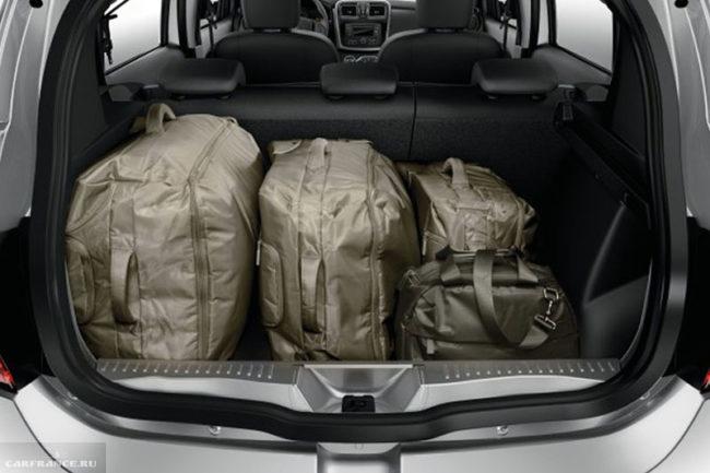 Багажное отделение в автомобиле Рено Сандеро 2018 модельного года