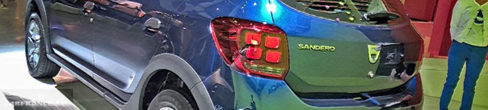 Рено Сандеро новый модельный кузов вид сзади