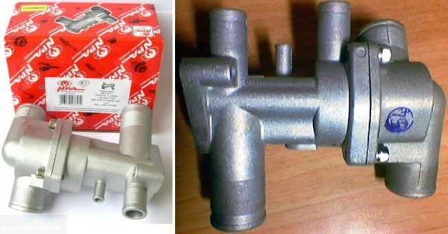 Термостаты старого и нового образца для инжекторного двигателя ВАЗ-2110