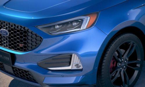 Передняя оптика на кузове кроссовера Форд Эйдж 2018 модельного года