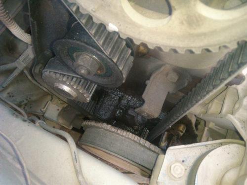 Замасливание привода ГРМ из-за износа сальника коленвала в ВАЗ-2110 8 клапанов
