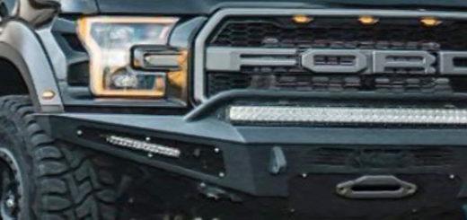 Внешний вид Форд Рейнджер Раптор в сером темном кузове