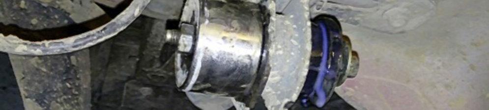 Запрессовка сайлентблока передней балки на ВАЗ-2110