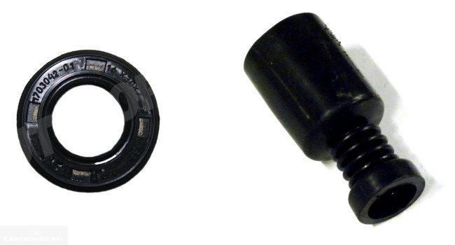 Сальник и пыльник кулисы коробки передач для замены в автомобиле ВАЗ-2110