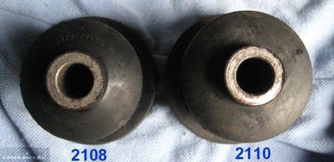 Сравнение сайлентблоков от восьмерки с деталями от автомобиля ВАЗ-2110