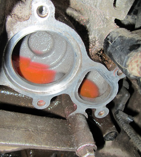 Место установки термостата Форд Фьюжн