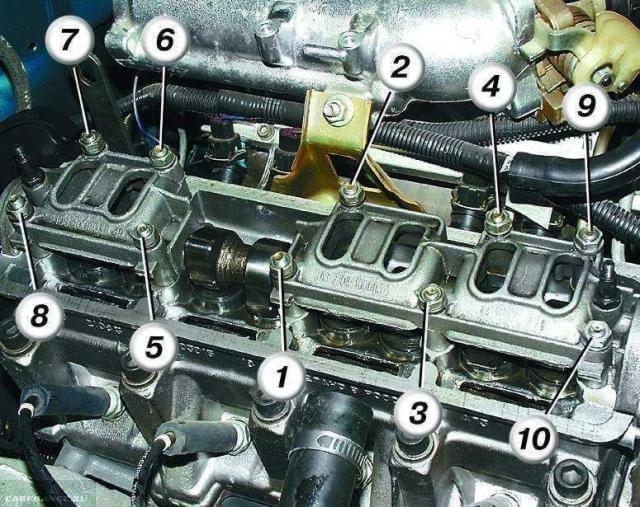 ГБЦ ВАЗ-2110.