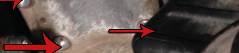 Схема расположения 4 болтов крепления насоса Гур Форд Фьюжн