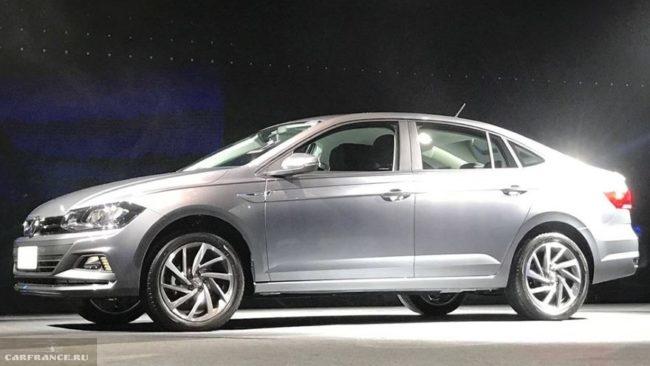Фото европейской модели нового Фольксваген Поло седан 2018 года
