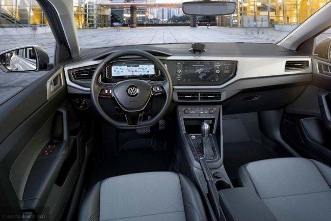 Передняя консоль новой модели Фольксваген Поло седан 2018 модельного года