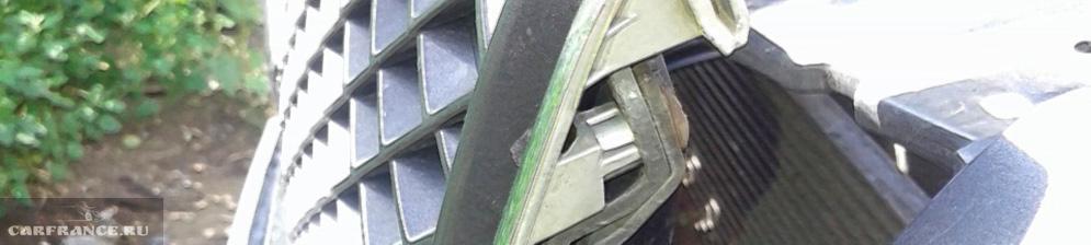 Демонтаж решётки радиатора от бампера СГВ 2007 года