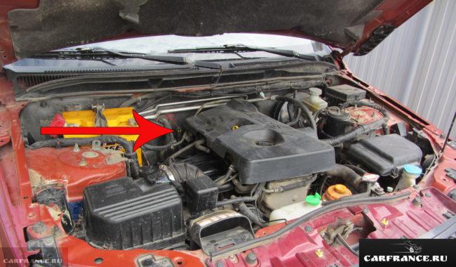 Месторасположение указателя уровня масла в АКПП автомобиля Сузуки Гранд Витара
