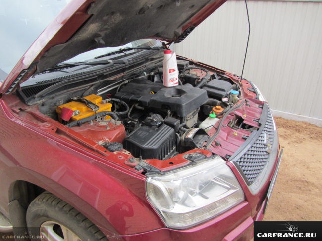 Антифриз G12+ Felix на двигателе 2.0 литра Сузуки Гранд Витара